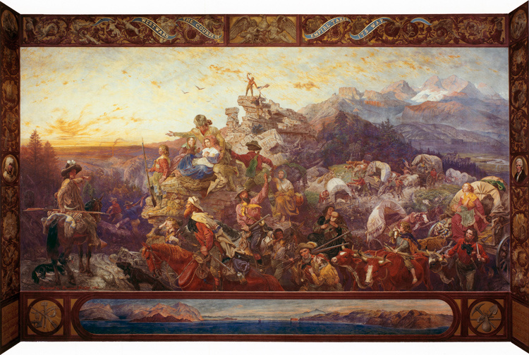 Wastward the Course of the Empire Takes,Emanuel Leutze,60x40cm