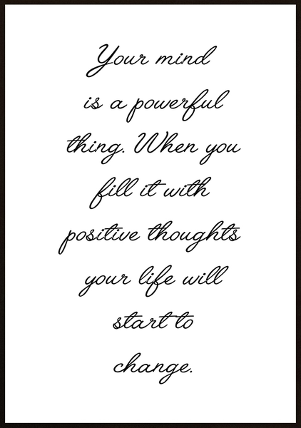 Poster - Your mind is powerful No.2 50x70cm