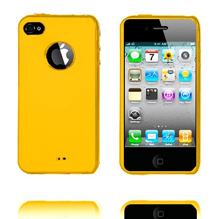 Candy colors (gul) iphone 4 skal