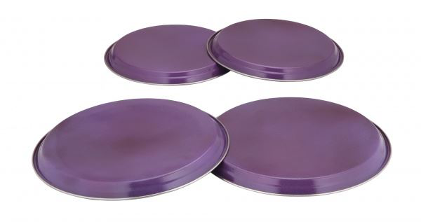 COLOURS 4pc Electric Gas Cooker Hob Cover Set  Aubergine