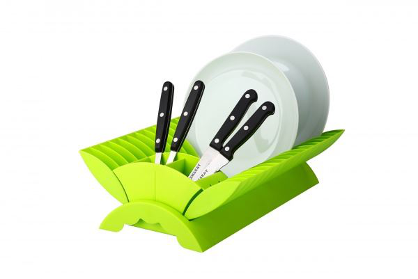 Lime – plate drainer kitchen dish rack