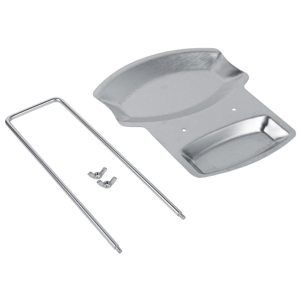 1pc home kitchen stainless steel spoon holder pot lid shelf
