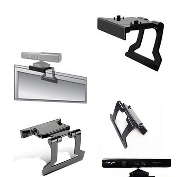 Tv clip mount mounting stand holder for microsoft xbox 360 kinec