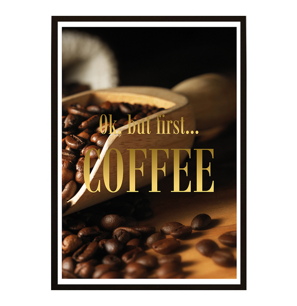 Poster - But first coffee No.21 40x50cm