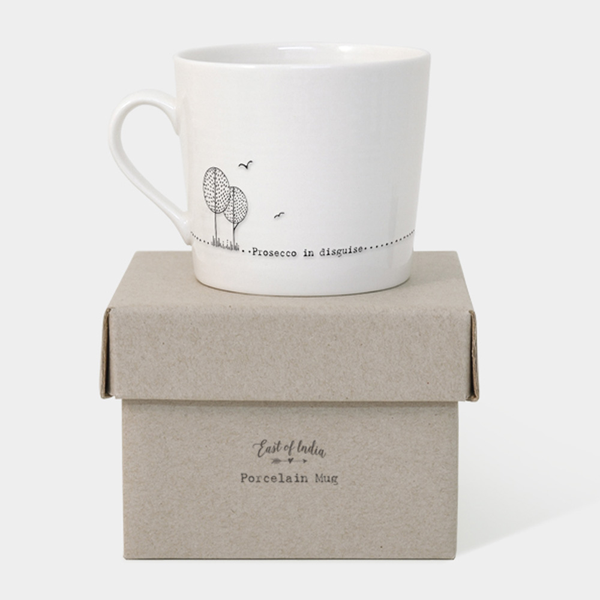 East of India Wobbly Mug Prosecco in Disguise - Keepsake Gift...