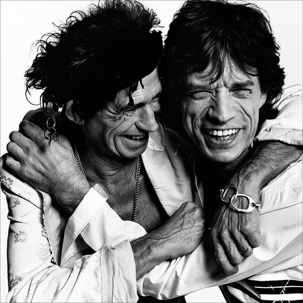 Poster mick jagger&keith richards 100x100cm