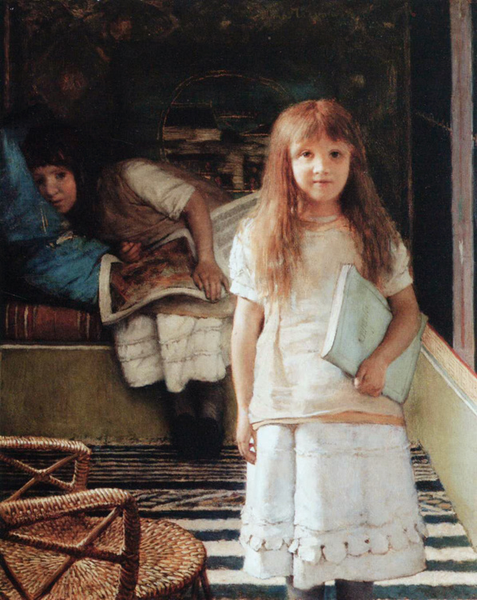 This is our Corner,Alma-Tadema Sir Lawrence,56.5x47cm