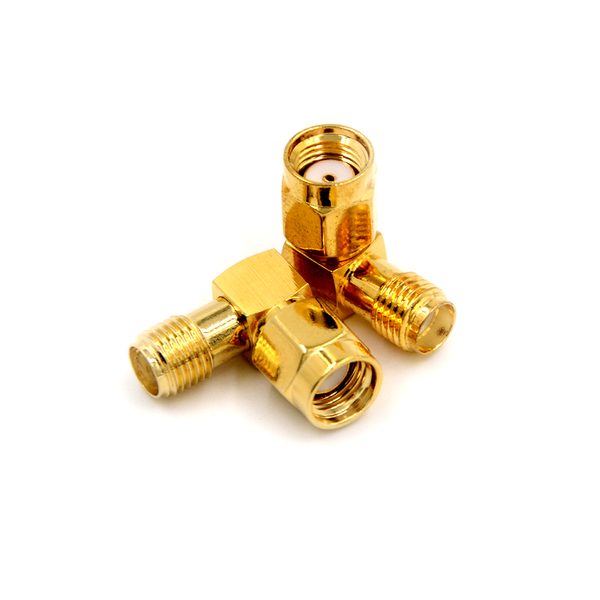 2pce adapter rp.sma male jack to sma female jack connector right