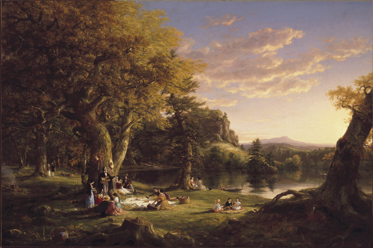 The Pic-Nic,Thomas Cole,60x40cm
