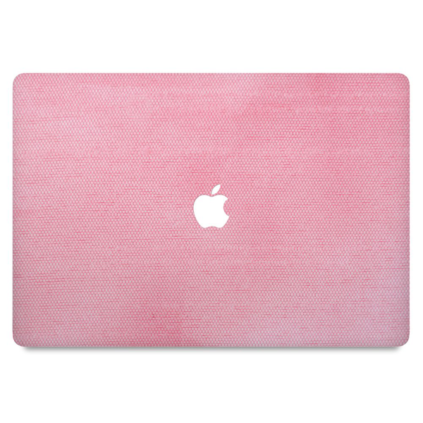 Macbook pro retina 15″ (touch bar) skin pink textile