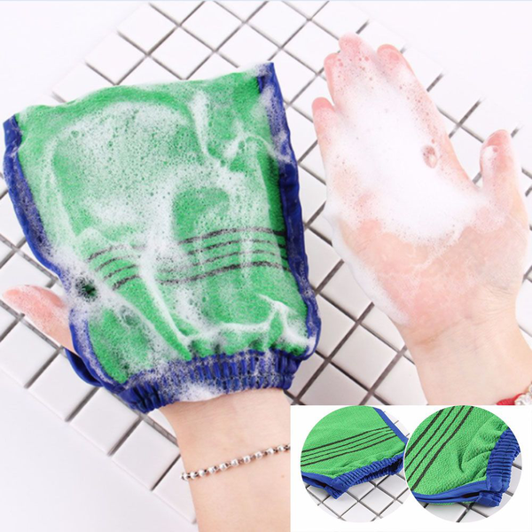 Scrub mitt bath glove shower spa exfoliator dead skin