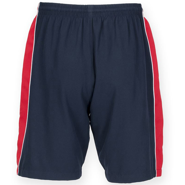 Unbranded Finden & hales mens contrast sports shorts navy/ red/ white utrw