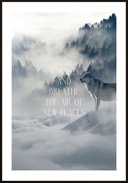 Poster - Escape and breathe No.4 70x100cm