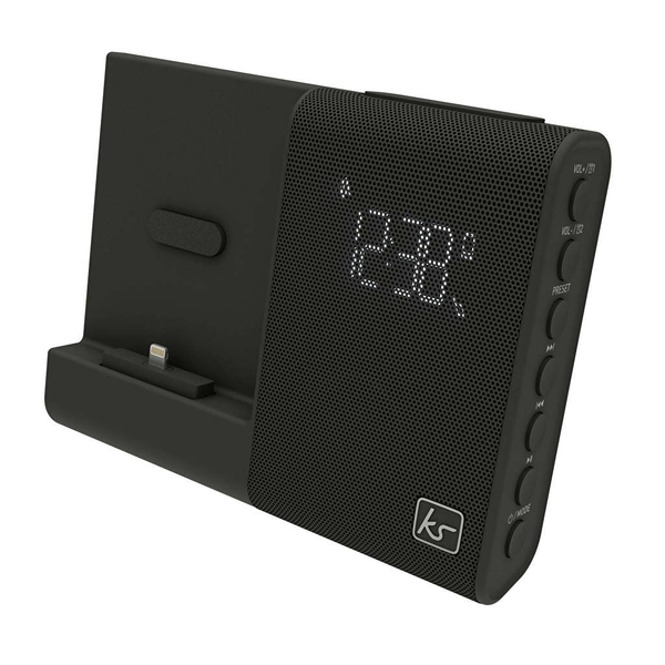 Kitsound klockradio xdock4 svart lightning