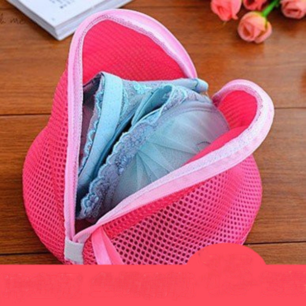 Laundry bag cone wash basket zipper storage underwear bra