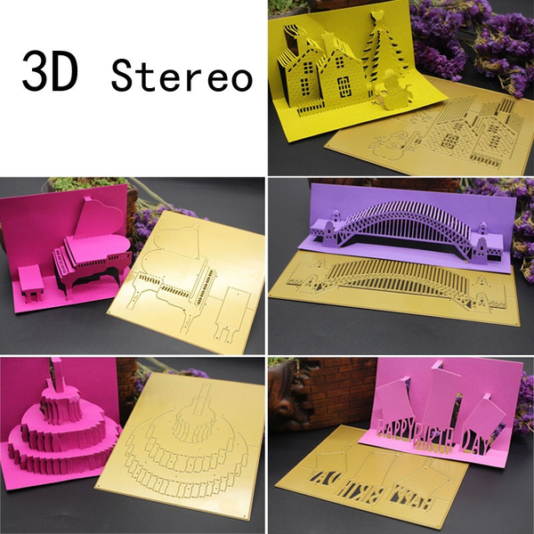Metal 3d stereo cutting dies cutter embossing scrapbooking c