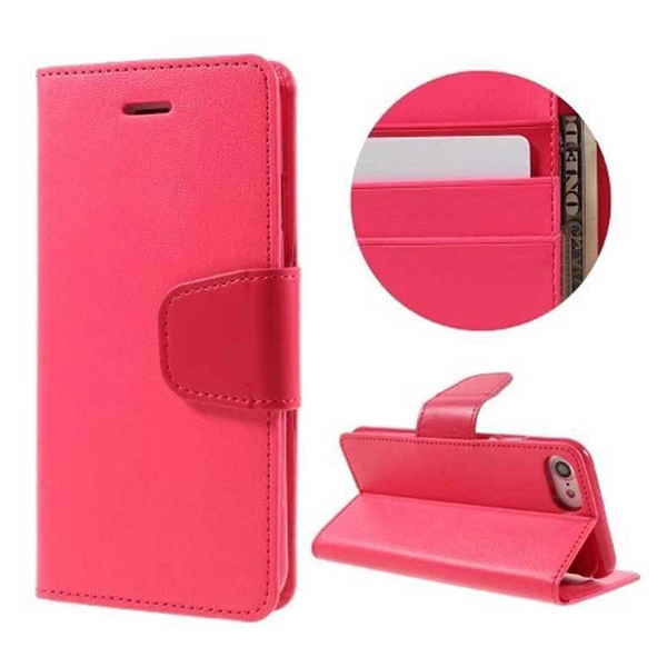 Htc one m7 case with card holder (pink)