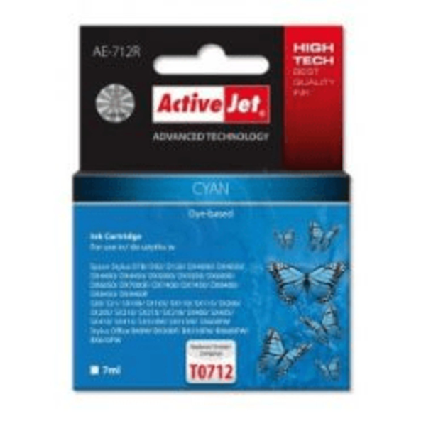 Tin activejet ae-712r refill(epson t0712 cyan)