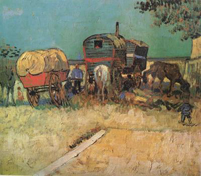 Encampment of of of Gypsies with Caravans,Vincent Van Gogh f4cc39