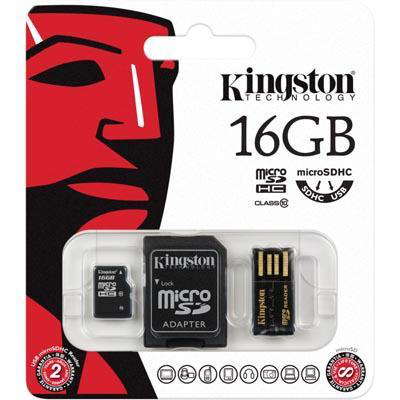 Kingston 16gb multi kit microsdhc usb