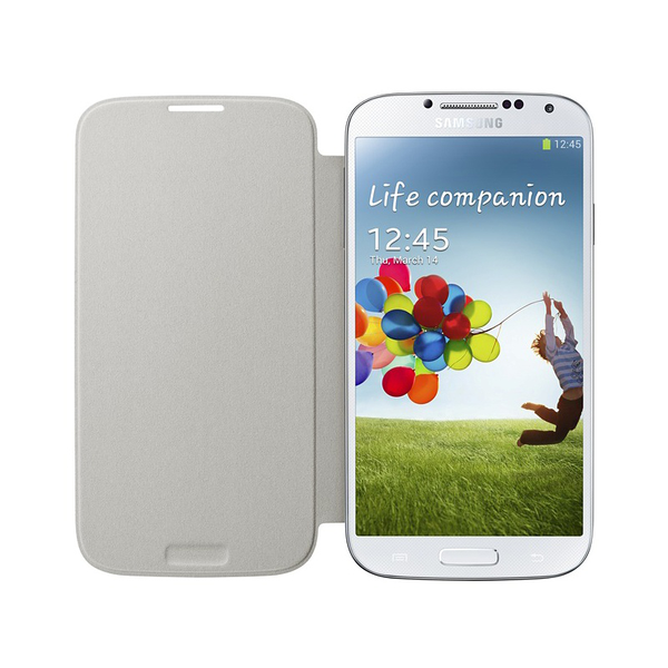Genuine flip cover samsung galaxy s4 (vit)