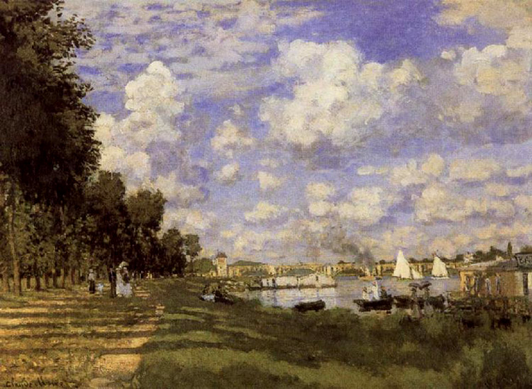 The Petit Bras of of of the Seine at Argenteuil,Claude Monet,52.6x71.8 f232c2