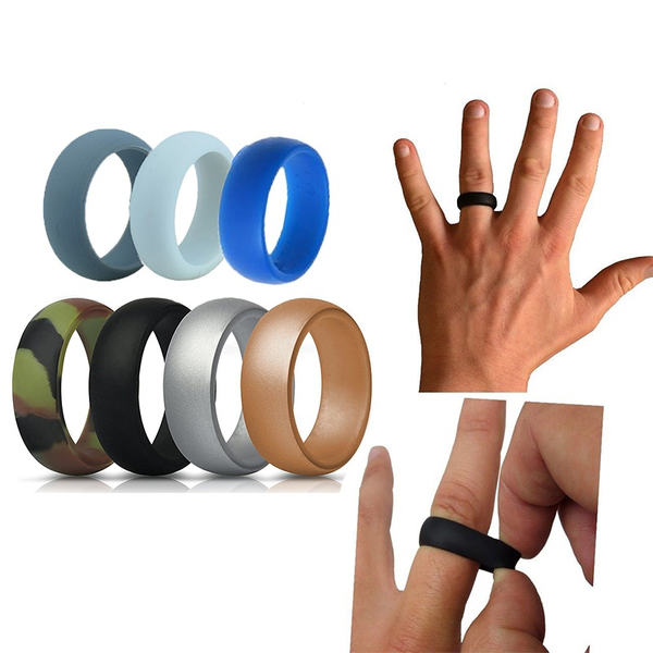 7 colors / set silicone finger ring size 7-13 hypoallergenic