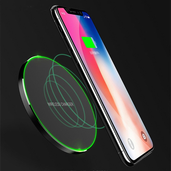 Qi 10w wireless fast charger charging pad for samsung note 8 s9