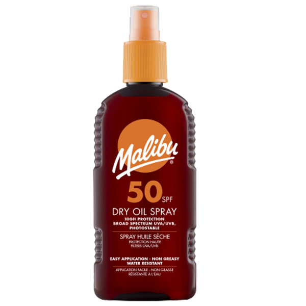Malibu high protection dry oil spray waterproof 200ml spf 50