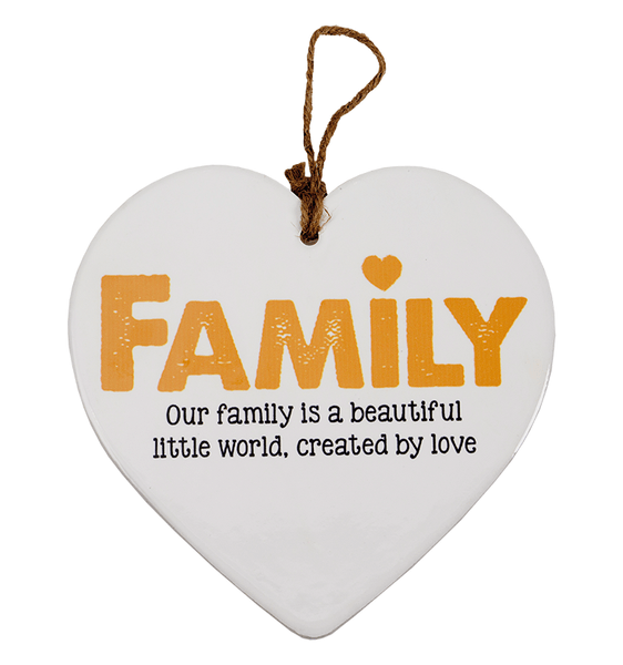 Skylt, Message heart - Family