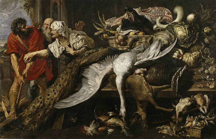 Philomenes Recognized by the Old Woman,Frans Snyders,60x40cm