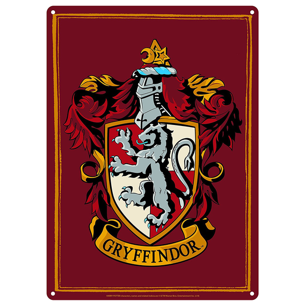 Harry Potter plåtskylt - GRYFFINDOR
