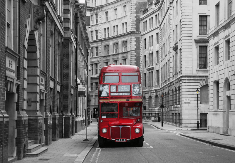 Fototapet – london bus stop