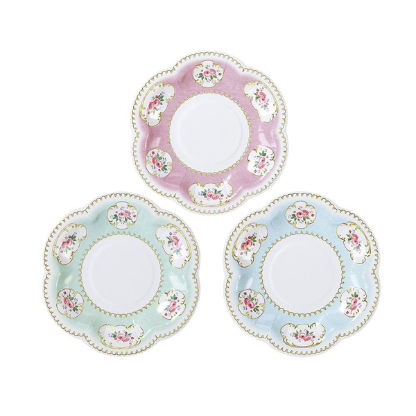 Truly chintz extra small canape paper plates pack of 12 vinta…