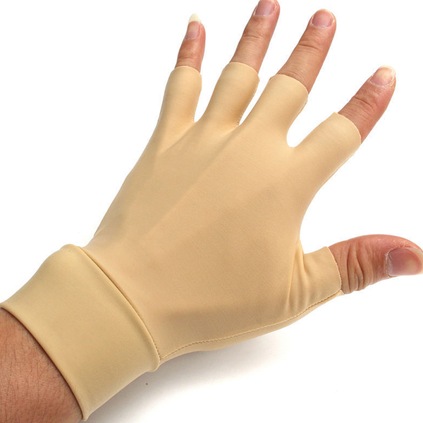 New pair of arthritis relief gloves washable nylon spandex anti