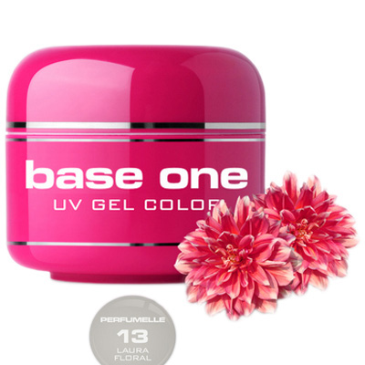 Base one – uv gel – perfumelle – laura floral – 13 – 5 gram
