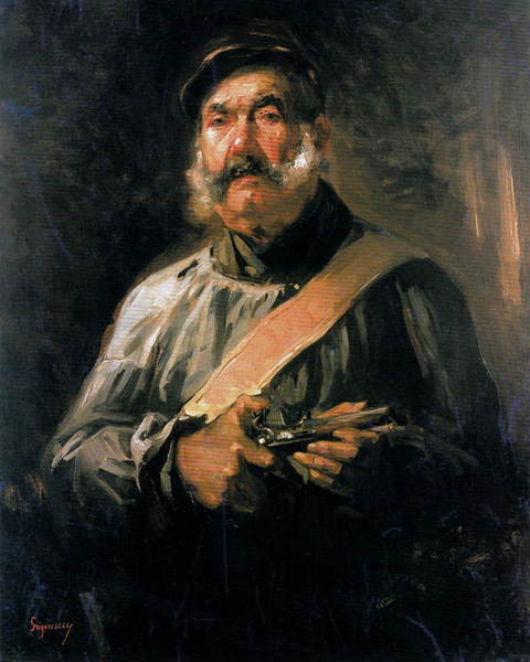 The Guardian of Chailly,Nicolae Grigorescu,50x40cm
