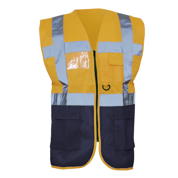 Yoko hi-vis premium executive/manager waistcoat / jacket (pack o