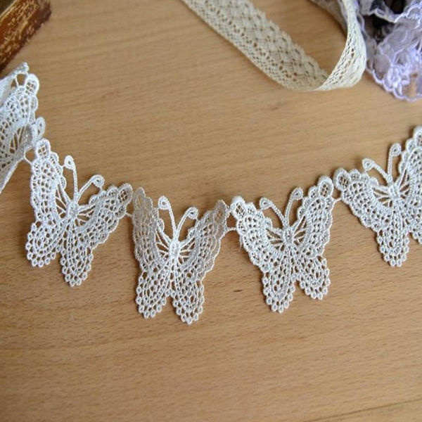 Hollow out lace butterfly embroidery soluble mesh stickwork