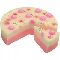 bomb cosmetics sweet star surprise soap cake slice