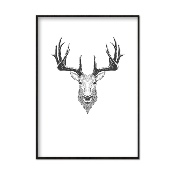 Poster A4 21x30cm Mighty Deer