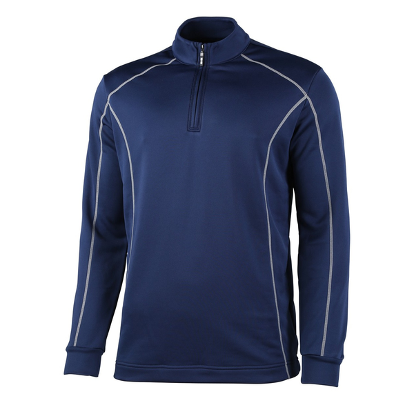 Rhino mens seville 1/4 zip midlayer sports top navy utrw4412