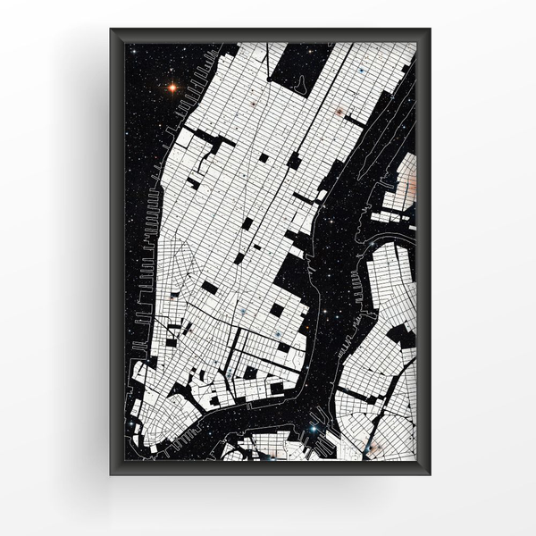 Poster A4 A4 A4 21x30cm New York Space b273c3