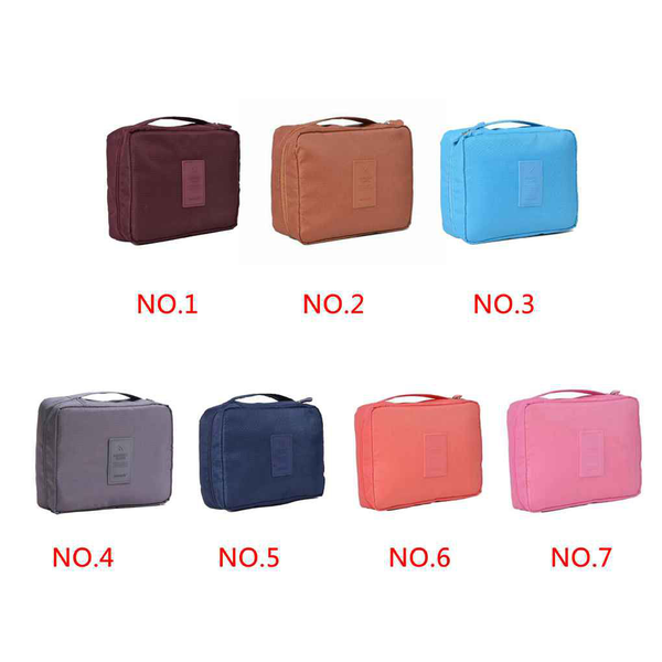 Cosmetic makeup toiletry case wash organizer storage pouch bag