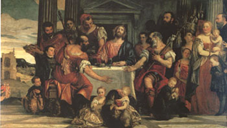 Supper at Emmaus, Paolo Veronese,80x40cm
