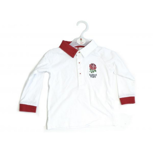 Unbranded England rfu baby toddler rugby shirt white/red utbs1718