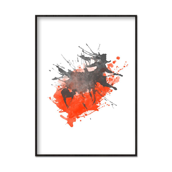 Poster A4 21x30cm Orange Splash