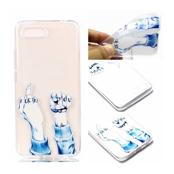 Huawei honor 10 pattern printing soft case – insulting gestures