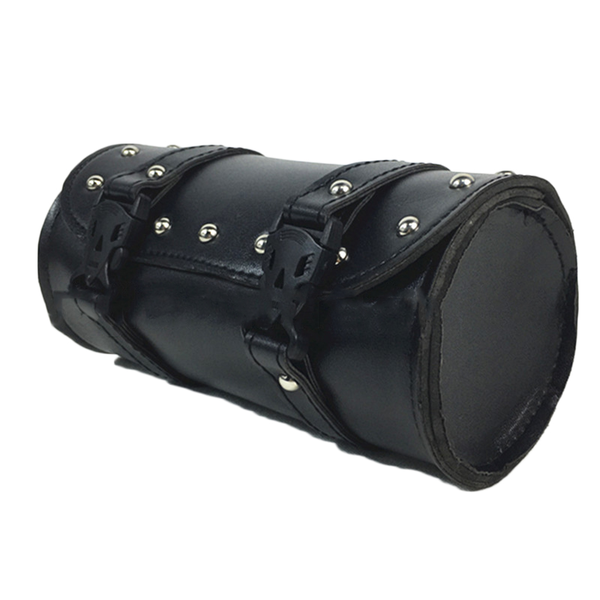 Motorcycle leather tool pouch roll barrel tool bag