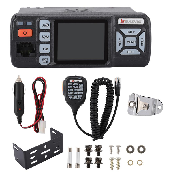 Mini car walkie talkie mobile radio dual band 400-470mhz for